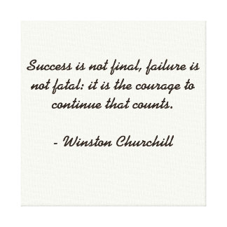 Citation de Winston Churchill Toiles