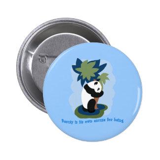 Citation d'Emerson avec le panda mis en danger Badge