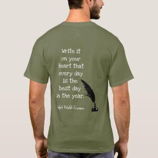 Citation d'Emerson -- Le meilleur jour - T-shirt
