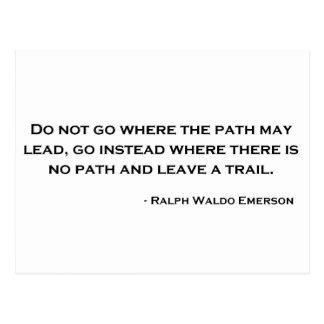 Citation d'innovation de Ralph Waldo Emerson Cartes Postales