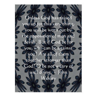 Citation d'inspiration de John Wesley avec la Carte Postale