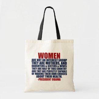 Citation d'Obama de droits de la femme Sac En Toile
