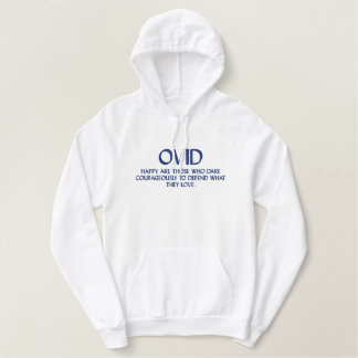 Citation d'OVID - sweatshirt à capuchon