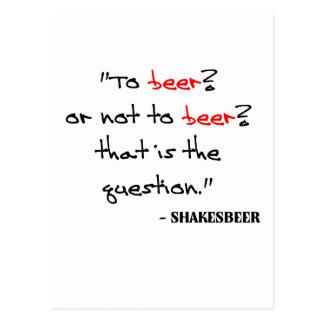 Citation drôle de bière carte postale
