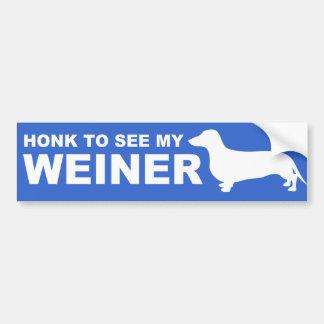 Citation drôle de chien de Weiner (teckel) Autocollant De Voiture