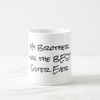 Citation drôle de frère et de soeur mug blanc