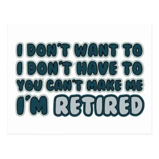 Citation drôle de retraite cartes postales