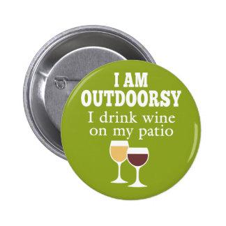 Citation drôle de vin - je bois du vin sur mon badges