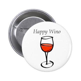 Citation drôle heureuse de consommation de vin de badge