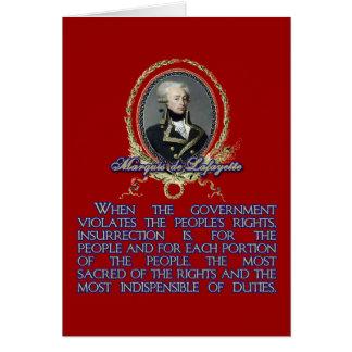 Citation du marquis De Lafayette sur Cartes