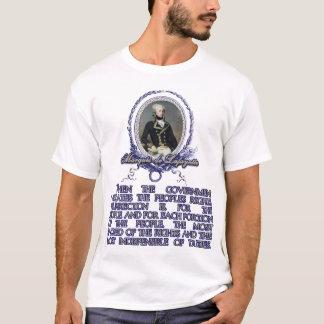 Citation du marquis De Lafayette sur T-shirt