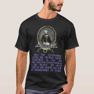 Citation du marquis De Lafayette sur T-shirt