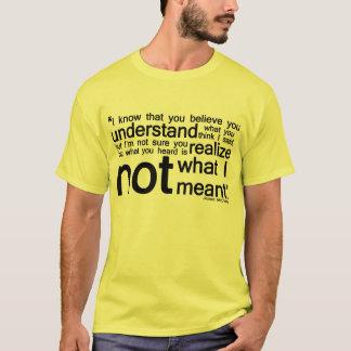 Citation embrouillante - tous style et couleur t-shirt
