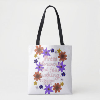Citation en pastel florale mignonne de motivation tote bag