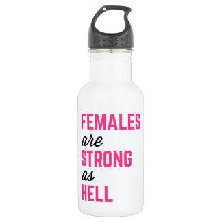 Citation forte de gymnase d'enfer de femelles bouteille d'eau