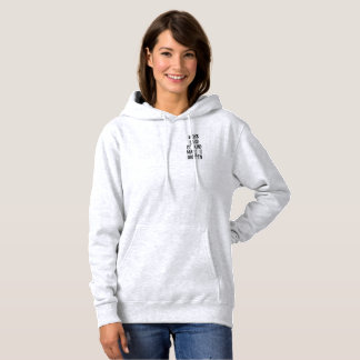 Citation grise de sweat - shirt à capuche