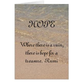 Citation Hawaï de Rumi de carte d'inspiration