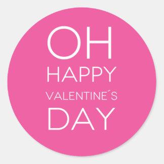Citation : Heureuse Sainte-Valentin de l'OH Sticker Rond
