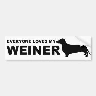 """Citation hilare de """"teckel"""" de chien de Weiner Autocollant De Voiture"""