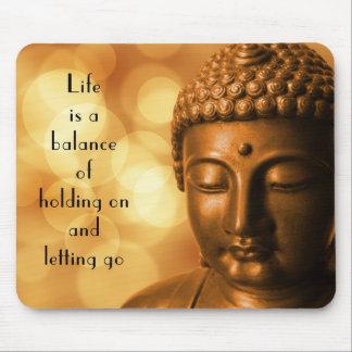 Citation inspirée avec une image de Bouddha Tapis De Souris