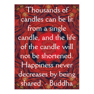 CITATION inspirée de Bouddha - milliers de bougies Cartes Postales