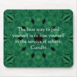 Citation inspirée de Gandhi au sujet de l'autonomi Tapis De Souris