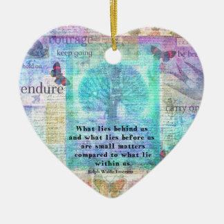 Citation inspirée de la vie ornement cœur en céramique