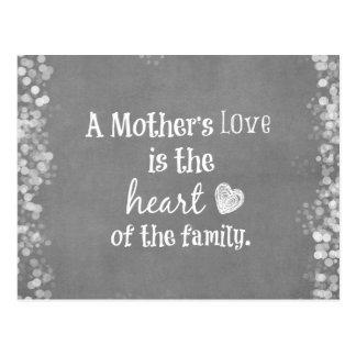 Citation inspirée de maman carte postale