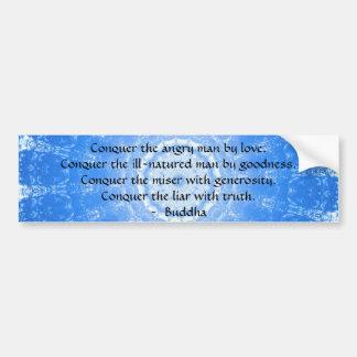 Citation inspirée de motivation de Bouddha Autocollant De Voiture