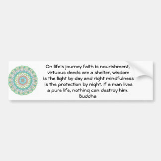 Citation inspirée de motivation de Bouddha Autocollant Pour Voiture