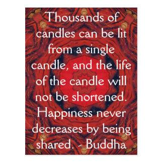 Citation inspirée de motivation de Bouddha Cartes Postales