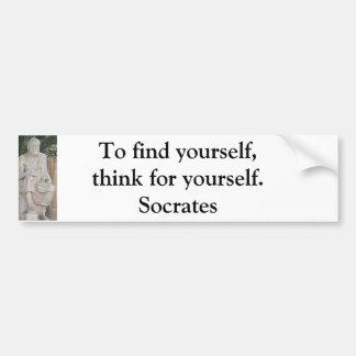 Citation inspirée de Socrates Autocollant Pour Voiture