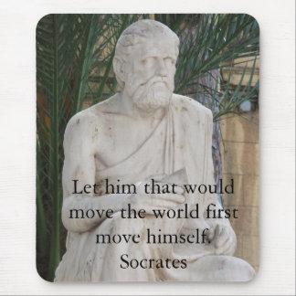 Citation inspirée de Socrates Tapis De Souris