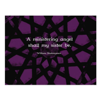 Citation inspirée de soeur de William Shakespeare Cartes Postales