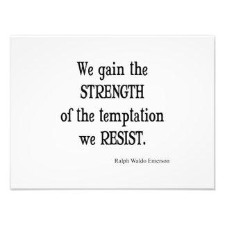 Citation inspirée vintage de force d'Emerson Photo D'art