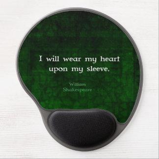 Citation lunatique d'AMOUR de William Shakespeare Tapis De Souris Avec Gel