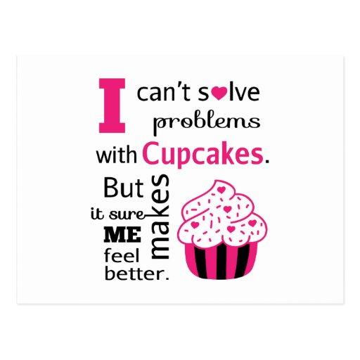 Citation mignonne de petit gâteau, bonheur cartes postales