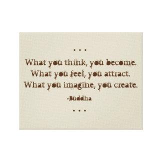 Citation naturelle de zen par Bouddha Toiles