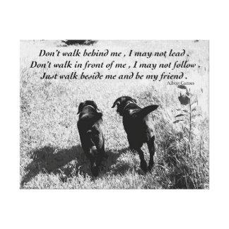 Citation noire d'amis de Labrador Toile