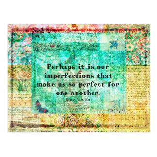 Citation pleine d'esprit de Jane Austen Carte Postale
