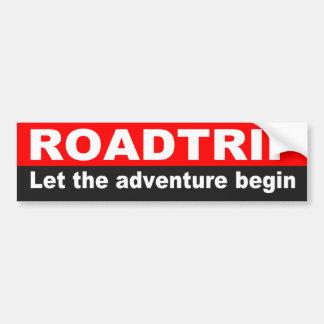 Citation pour le voyage par la route, aventure autocollant pour voiture