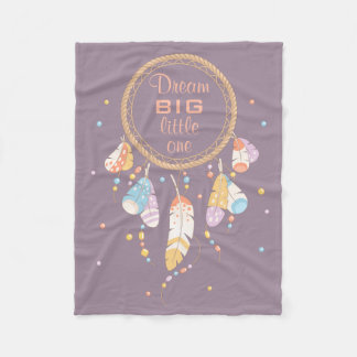 Citation pourpre tribale de Dreamcatcher Boho Couverture Polaire