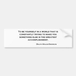 Citation sage de Ralph Waldo Emerson Autocollant Pour Voiture