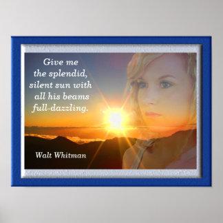Citation silencieuse de Sun - de Walt Whitman - Poster