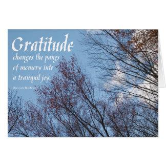 Citation sobercards.com de Bonhoeffer de gratitude Cartes