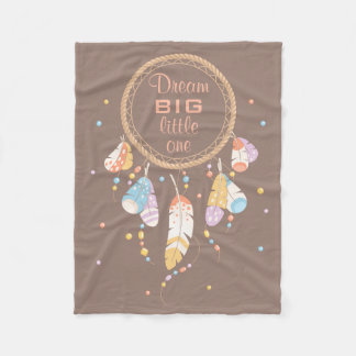 Citation tribale de Dreamcatcher Boho Brown Couverture Polaire