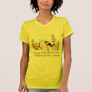 Citation végétarienne de Pythagore T-shirt