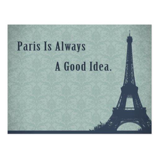 Citation vintage de Paris de style Cartes Postales