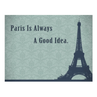 Citation vintage de Paris de style Cartes Postales