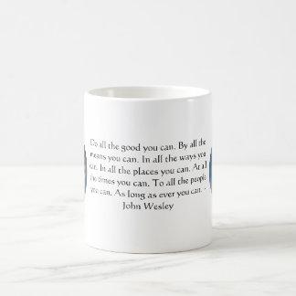 Citation vivante de John Wesley avec des nuages de Mug